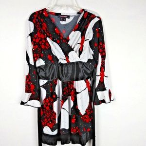 MY MICHELLE Girls Holiday Dress Red Black Size 10